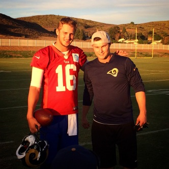 Dodgers Work Out With Rams, Britney Spears Watches