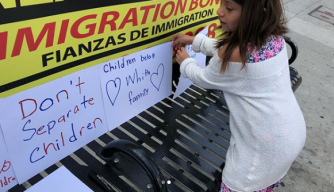 Protesters Advocate for Immigrant Families in Downtown LA