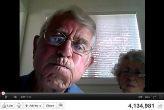 Grandparents+Webcam = 4 Million Hits on YouTube