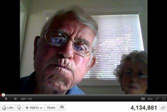 Grandparents+Webcam = 4 Million Hits on YouTube