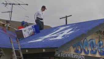 House Gets a Dodger Blue Makeover for World Series