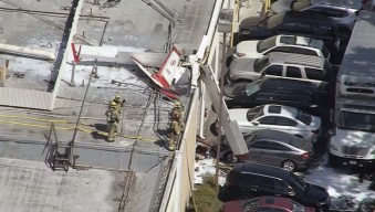 One Dies, One Critical After Small Plane Crashes Onto Building in Torrance Shopping Center