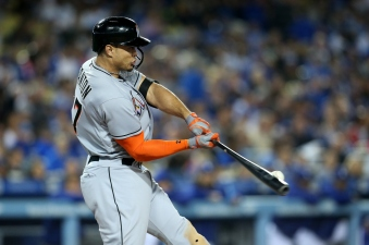 Marlins' Slugger Hits Historic Home Run at Dodger Stadium