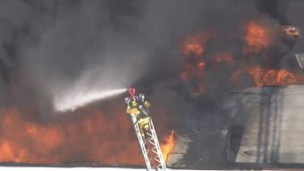 Firefighters Battle Blaze at 99 Cents Store