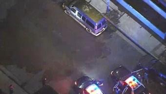 Police Pursuit of GMC Van Ends in Watts Area