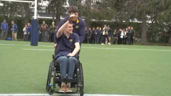 Paralyzed Cal Rugby Player on Road to Recovery