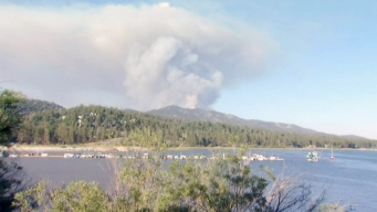 Firefighters Make Progress Battling Fire Near Big Bear