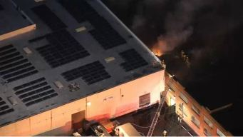 Firefighters Battle Blaze at Commercial Building