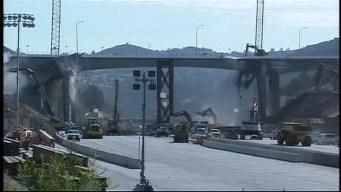 CarmageddonCam: Huge Bridge Chunk Falls