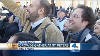 Thousands Gather at St. Peter's Basilica to See Pope Francis