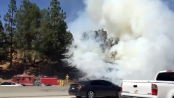 Mulch Fire Knocked Down Along 118 Freeway