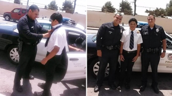Police Officers Pull Over to Help With Boy's Tie