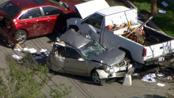 Stolen Truck Chase Ends in San Bernardino Crash