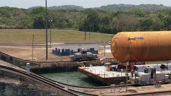 Watch: Shuttle Tank Crosses Panama Canal