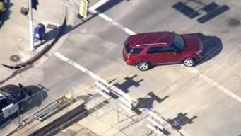 Police Pursue Vehicle in San Fernando Valley