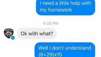 Girl Turns to Police Department for Help on Math Homework