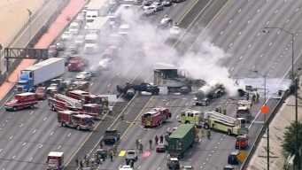 At Least 9 Injured in Fiery Crash That Shut Down 5 Fwy