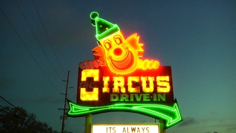 Car Side Service with a Smile at the Circus Drive-In