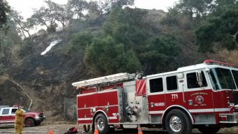 Fourth of July Fire Scorches Hillside Near Homes