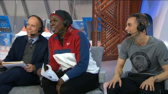 Leslie Jones, Adam Rippon Commentate Ice Dance