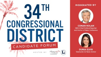 Nolan, Elvir to Moderate 34th Congressional District Forum