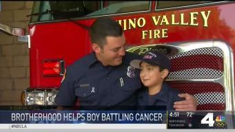 Firefighters Bond With Boy Fighting Cancer