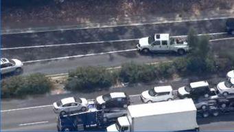 Officers Pursue Stolen Car on LA Freeways