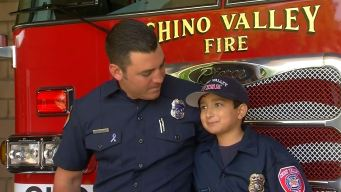 Chino Valley Firefighter Bonds With Boy Fighting Cancer
