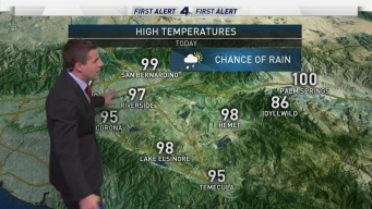 AM Forecast: Chance of Rain in Southern California
