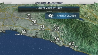 AM Forecast: Deep Marine Layer Brings Cooler Temps