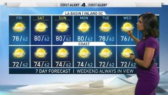 First Alert Forecast: Sunny, Warm
