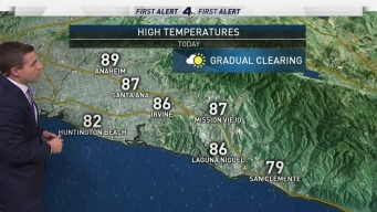 AM Forecast: Less Hot on Labor Day