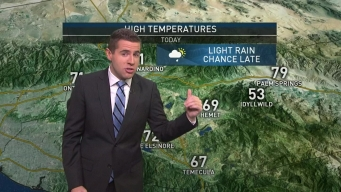 AM Forecast: Light Rain Heading to SoCal