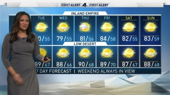 AM Forecast: Temperatures in the 70s