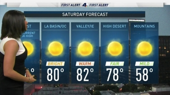 AM Forecast: Sunny Skies This Saturday