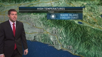 AM Forecast: Cooling in Some Areas, Warmer Temps Inland