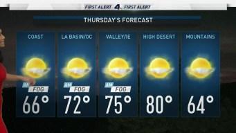 AM Forecast: Sunny Haze