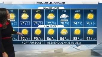 AM Forecast: Mild Weekend Ahead