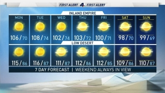 AM Forecast: Another Heat Wave Starts Monday