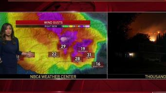 AM Forecast: Gusty Winds Will Affect Woolsey Fire