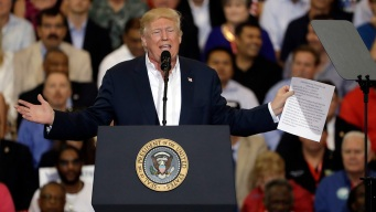 Trump Rallies Supporters, Tears Into 'Dishonest Media'