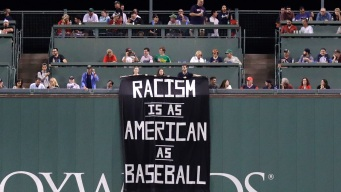 'Racism Is as American as Baseball' Banner Unfurled at Red Sox Game