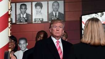 Trump Hails Civil Rights Heroes; Protesters Pan His Record