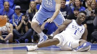 Duke Star Zion Williamson Sprains Knee When Nike Shoe Blows Out