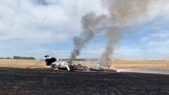 Jet Catches Fire in Oroville; 10 Aboard Unhurt