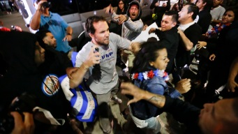 Protests Erupt Outside Donald Trump Rally