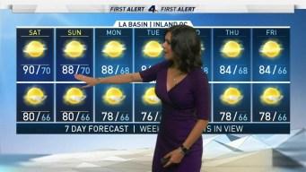 First Alert Forecast: Sweaty Saturday