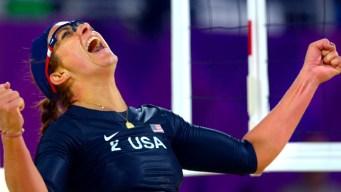 US Beats Australians in Beach Volleyball