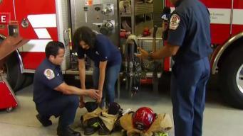 Belen De Leon Gears Up at Riverside Fire Station 1