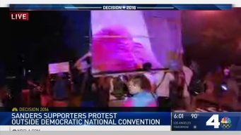 'Bernie or Bust' Protesters Rally Outside DNC